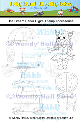 Ice Cream Parlor Digital Stamp set watermark