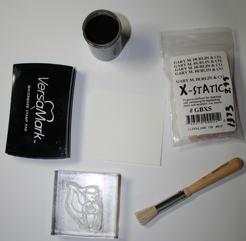 Supplies for stamping skunk