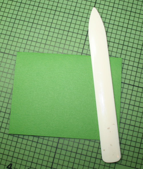 Fold in half w bone folder