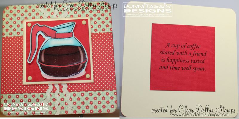 Coffee with a friend -whole card