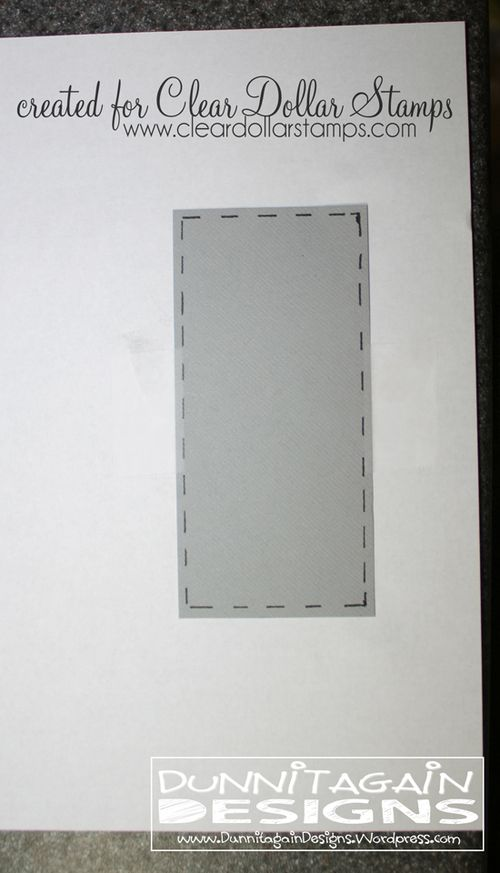 Step 3 - line up paper