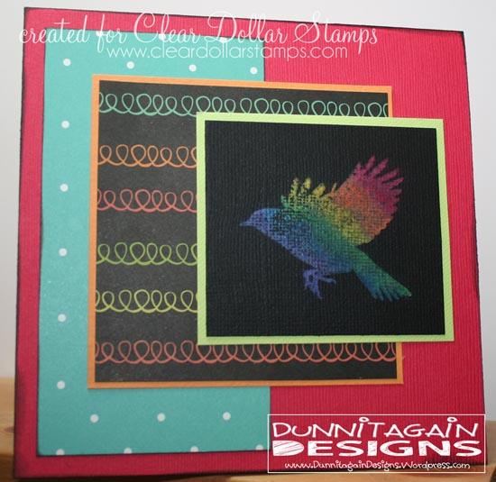 Rainbow bird - chalk