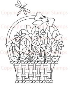 Flower Basket Freebie