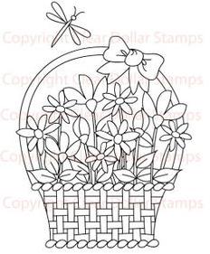 Flower Basket Freebie
